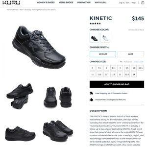 Kuru Kinetic Black Womens Sneaker Shoe